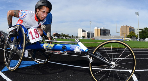Veteran participating in the National Wheelchair Games